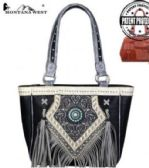 2 Units of Concho Fringe Collection Concealed Carry Tote Bag - Tote Bags & Slings