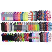 144 Units of Women's Low Cut, No Show Footie Socks Size 6-8 in 12 Styles - Womens Ankle Sock