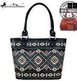 2 Units of Montana West Aztec Collection Concealed Carry Tote Black - Tote Bags & Slings