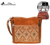 3 Units of Montana West Embroidered Collection Concealed Carry Crossbody Bag - Tote Bags & Slings
