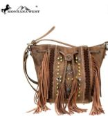 4 Units of Montana West Fringe Collection Drawstring Crossbody Coffee - Tote Bags & Slings