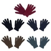 48 Units of Unisex Winter Gloves in 5 Assorted Colors - Winter Sets Scarves , Hats & Gloves