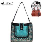 2 Units of Montana West Tooled Collection Concealed Carry Hobo - Tote Bags & Slings