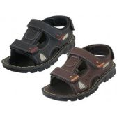 24 Units of Boy's Soft Man Made Leather Upper Velcro Sandals - Boys Flip Flops & Sandals