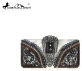 4 Units of Montana West Buckle Collection Secretary Style Wallet - Wallets & Handbags