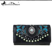 4 Units of Montana West Concho Collection Wallet Wrist let Black - Wallets & Handbags
