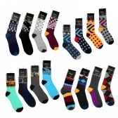 144 Units of Women's Colorful Patterned Crew Socks - Womens Crew Sock
