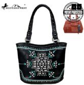 2 Units of Montana West Aztec Collection Concealed Carry Tote Bag Black - Tote Bags & Slings