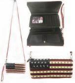 6 Units of Montana West American Pride Collection Rhinestone Wallet Purse - Tote Bags & Slings
