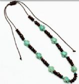 96 Units of Turquoise color wood beaded turtle necklace - Necklace