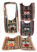 10 Units of Multicolor Patch Work Big Eyed Owl Hobo Bag - Tote Bags & Slings