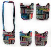 10 Units of Multicolor Patches Small Nepal Sling Bag - Tote Bags & Slings