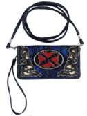 6 Units of Royal Blue Camo Rebel Plate Wallet Purse - Tote Bags & Slings