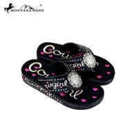 12 Units of Montana West Fun Novelty Embroidered Collection Flip Flops - Women's Flip Flops