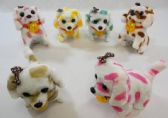 24 Units of Polka Dots Barking walking puppy toy with disco ball - Animals & Reptiles