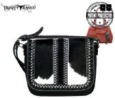 2 Units of Trinity Ranch Hair On Leather Collection Saddle Bag Black - Wallets & Handbags
