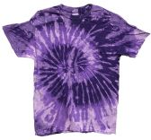 12 Units of Tie Dye Purple Short Sleeve Shirts Assorted - Girls Tank Tops and Tee Shirts