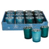 24 Units of Candle Votive Holder Coastal - Candles & Accessories