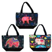 24 Units of Insulated Lunch Bag in 3 Assorted Elephant Prints - Lunch Bags & Accessories