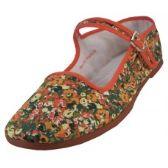 36 Units of Women's Printed Classic Cotton Mary Janes Shoe - Women's Flip Flops