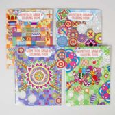 48 Units of Coloring Book Adult Geometric 48 Pg 4 Assorted In Pdq - Coloring & Activity Books