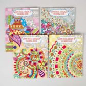 36 Units of Coloring Book Adult Geometric 4 Assorted - Coloring & Activity Books
