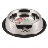 24 Units of Pet Bowl Stainless Steel 32 Oz 3.75 Cups Anti-skid 210g 7.08 X 10.03 - Pet Accessories