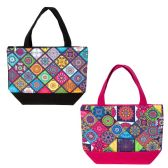 24 Units of Insulated Lunch Bag in 2 Assorted Kaleidoscope Prints - Lunch Bags & Accessories