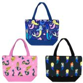 24 Units of Insulated Lunch Bag in 3 Assorted Mermaid Prints - Lunch Bags & Accessories