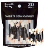 48 Units of Double Tip Eye shadow Wands 20count Resealable Bag - Eye Shadow & Mascara