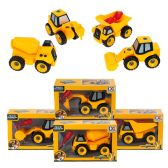 48 Units of Under Construction Assembly Trucks in 4 Assorted Styles - Cars, Planes, Trains & Bikes