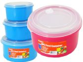 48 Units of 3pc Round Food Containers - Food Storage Bags & Containers