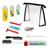 24 Units of Wholesale Elite Adult Hygiene & Toiletries Kit with Clear Large PVC Travel Bag - Travel & Luggage Items