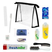 24 Units of Wholesale Elite Young Adult Hygiene & Toiletries Kit with Clear Large PVC Travel Bag - Travel & Luggage Items
