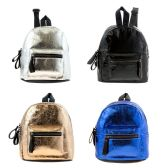 "24 Units of Wholesale 10"" Cute Mini Backpack in 4 Assorted Colors - Backpacks 15"" or Less"