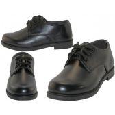12 Units of Big Boy's Black Lace Up School Shoe - Boys Shoes