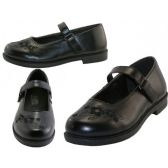 24 Units of Big Girl's Mary Janes Black School shoe - Girls Shoes