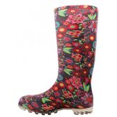 24 Units of Women's 13.5 Inches Water Proof Soft Rubber Rain Boots - Women's Flip Flops