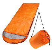 10 Units of Wholesale Polyester Hollow Fiber Heavy Duty Hooded Sleeping Bag in Orange - Camping Sleeping Bags