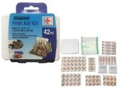 144 Units of 42pc First Aid Kit - First Aid and Bandages