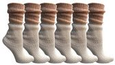 Yacht&Smith Ruffle Slouch Socks for Women, Unique Frilly Cuff Fashion Trendy Ankle Socks (6 Pair White Slouch Combo) - Womens Crew Sock