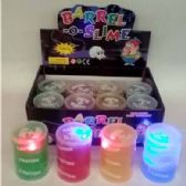 24 Units of SLIME BARREL WITH LIGHTS - Slime & Squishees