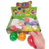 24 Units of SQUISHY BEAD FRUIT BALL - Slime & Squishees