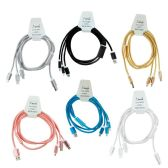 24 Units of Wholesale 4ft High Speed 3 in 1 Cable - Chargers & Adapters