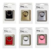 96 Units of Wholesale Phone Finger Ring Holder Kickstand in 6 Assorted Colors - Cell Phone Accessories