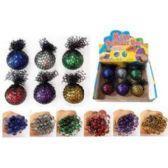 24 Units of GLITTER MESH BALL - Slime & Squishees