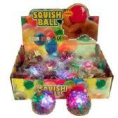 24 Units of FLASHING RAINBOW BEADS BALL - Slime & Squishees