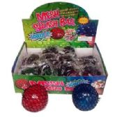 24 Units of FLASHING MESH BALL WITH BEADS - Slime & Squishees