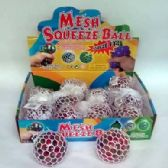 24 Units of MESH WATER BALL WITH RAINBOW BEADS - Slime & Squishees
