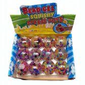 24 Units of SQUISHY RAINBOW BEAD BALL - Slime & Squishees